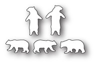 Poppystamps Tiny Polar Bears craft die 1905