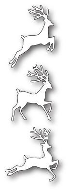 Poppystamps Jumping Deer Trio craft die 1934