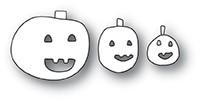 Poppystamps Doodle Jack o Lanterns craft die 1944