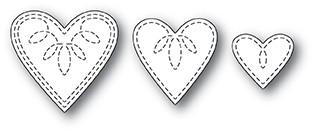 Petite Stitched Hearts die 1998