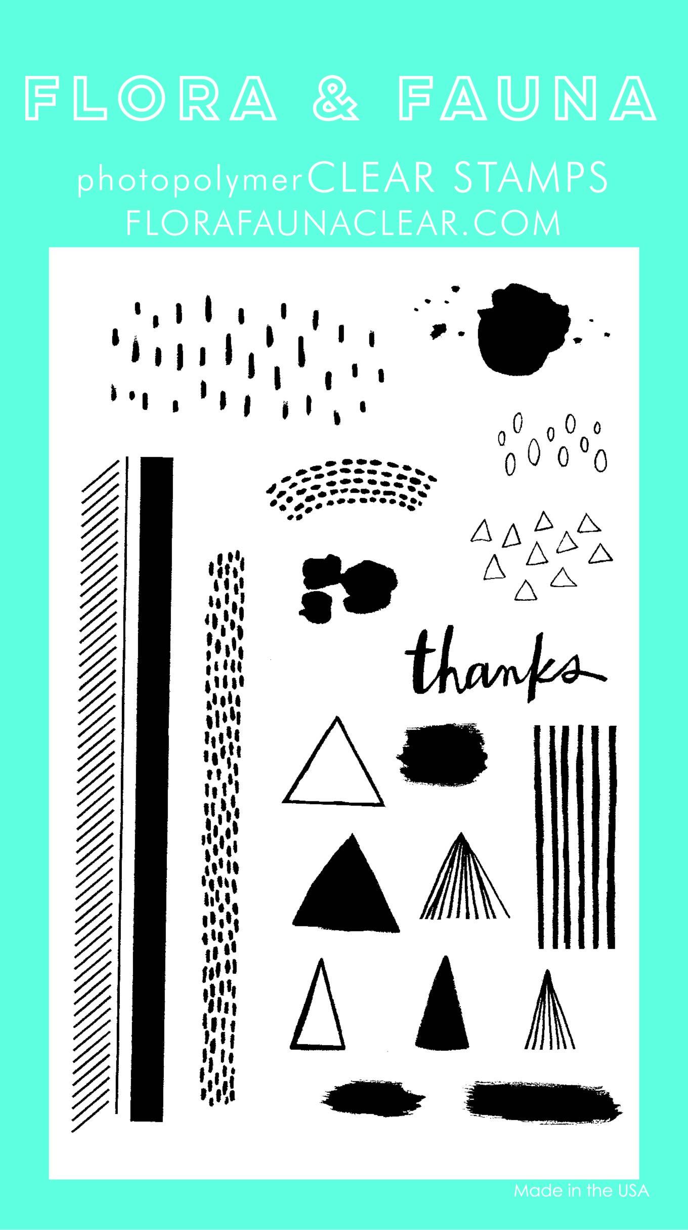 Flora & Fauna Texture 3 Clear Stamp Set