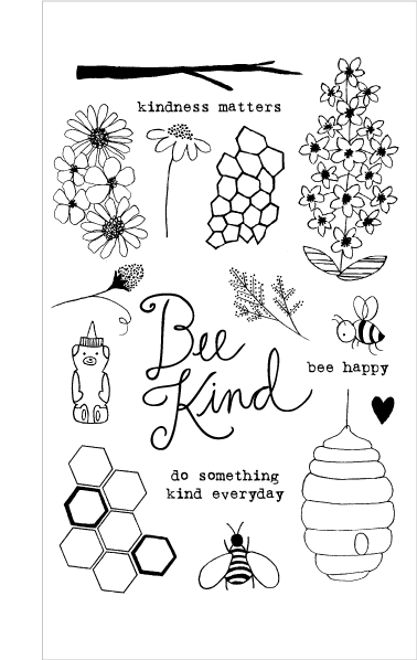 Flora and Fauna Bee Kind Clear Set