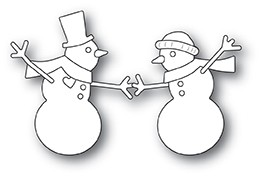 Memory Box Dancing Snowmen craft die  30115