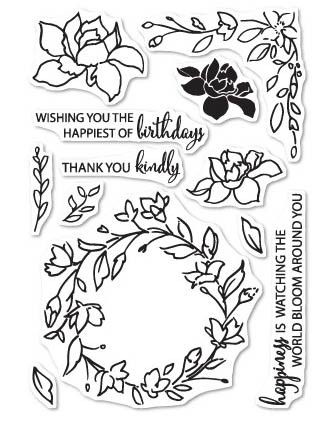 Watching the World Bloom clear stamp set (CL5197)