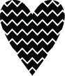 5233C - zig zag heart