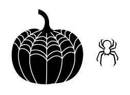 5325E - Spider Web Pumpkin Combo