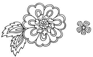 5367E - ribbon flower outline combo
