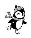 5408D - ice skating penguin
