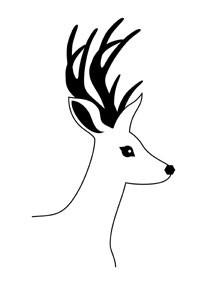 5512e - sweet deer bust