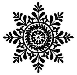 5529e - large folk snowflake