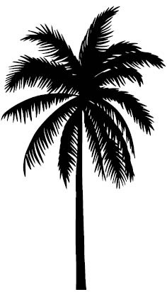 5640g - palm tree rubber stamps