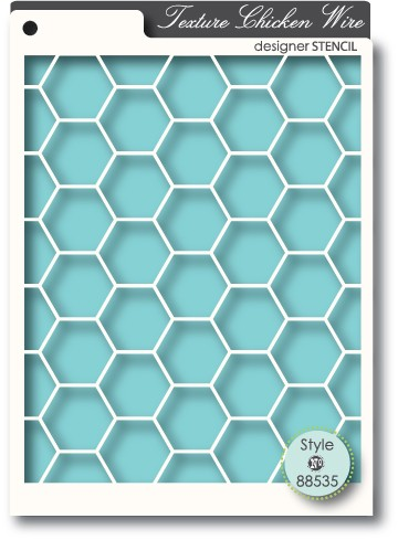 Chicken Wire stencil (88535)