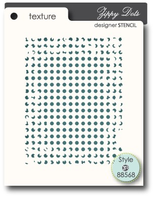 zippy dots stencil (88568)