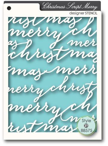 Script Merry Stencil (88575)