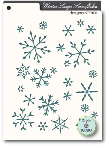 Winter Large Snowflakes Stencil (88586)