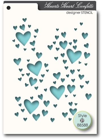 Memory Box Heart Confetti Stencil(88588)