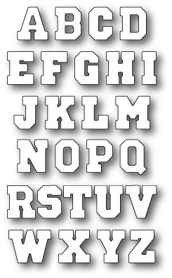 Varsity Uppercase Alphabet Background (98865)