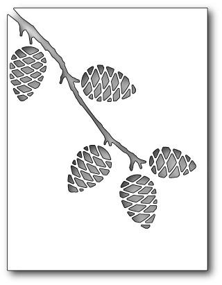Pinecone Frame die(mb98971)