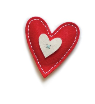 Plush Bright Heart Die (99302)