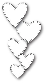 Classic Stitched Heart Collection craft die (  99637)