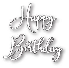 Happy Birthday Friendship Script craft die (99641)