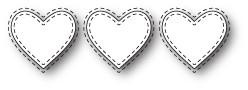 Triple Stitched Heart craft die (99642)