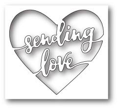 Sending Love Heart craft die ( 99647)