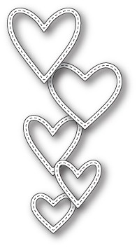 Classic Stitched Heart Rings craft die (99661)