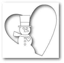 Memory Box Snowman Heart Collage craft die 99801