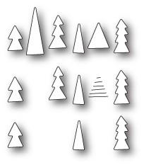 Memory Box Tiny Tree Triplet craft die 99814