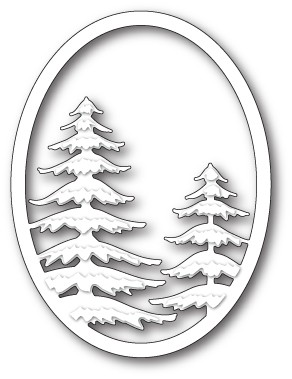 Memory Box Snowy Pine Oval craft die 99831