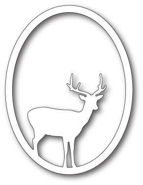 Memory Box Single Deer Oval craft die 99834