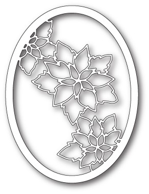 Memory Box Poinsettia Oval craft die (99849)
