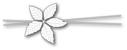 Memory Box Decorative Poinsettia Trimming craft die (99865)
