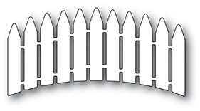 Memory Box Curved Picket Fence craft die 99878