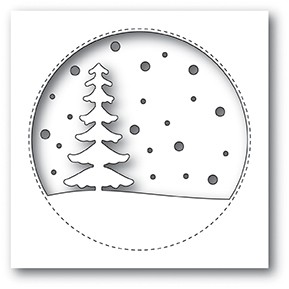 Memory Box Snowy Tree Circle craft die   99887