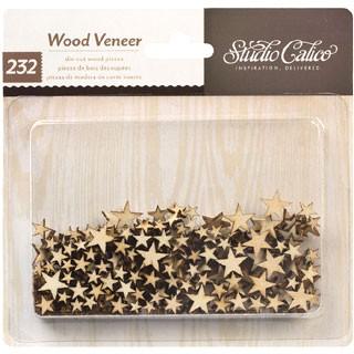 Mini Wood Veneer  Stars