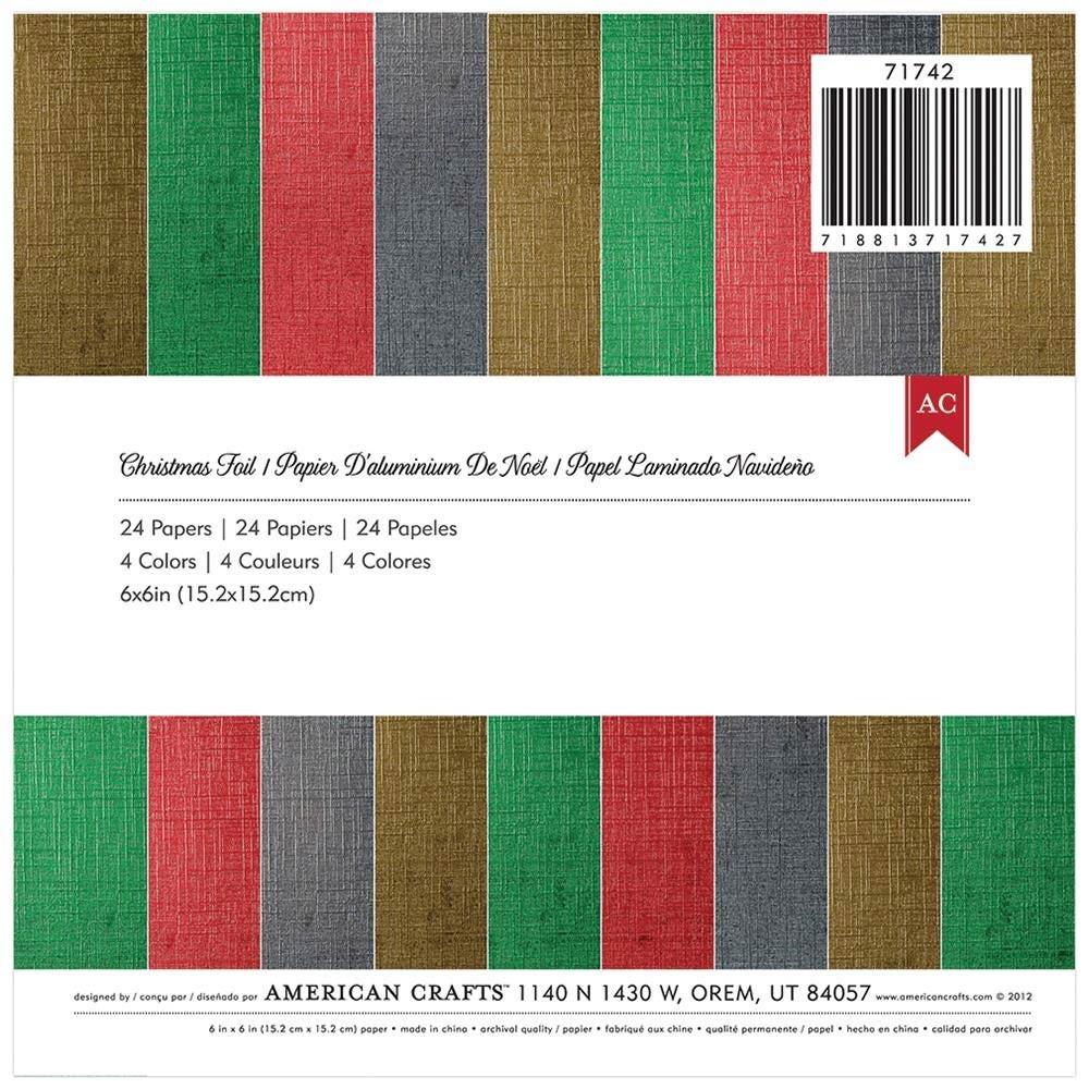 Christmas Foil 6x6 Paper Pack
