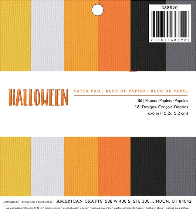 Halloween Colors Paper Pad