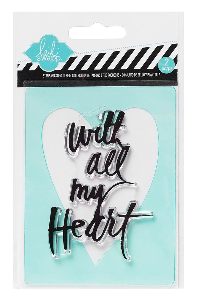 My Heart Stamp & Stencil Set