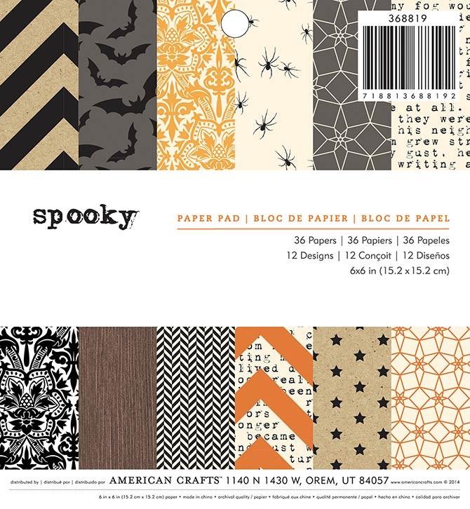 Spooky 6x6 Paper Pad