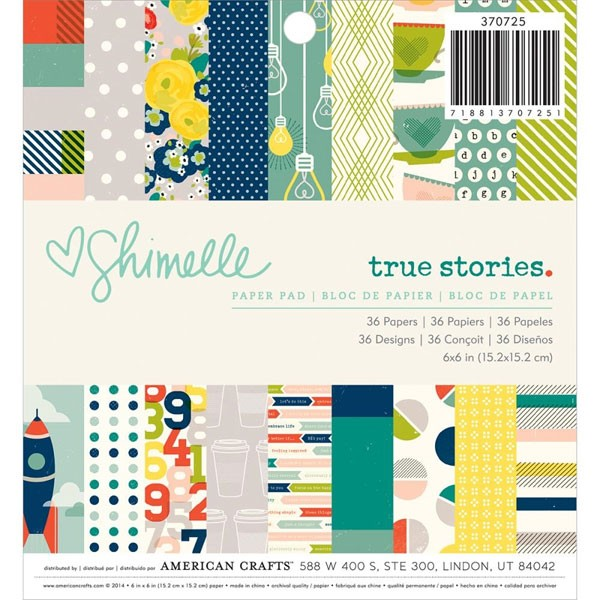 True Stories 6x6 Paper Pack