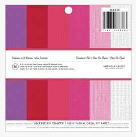 Valentine Solid Colors Paper Pack