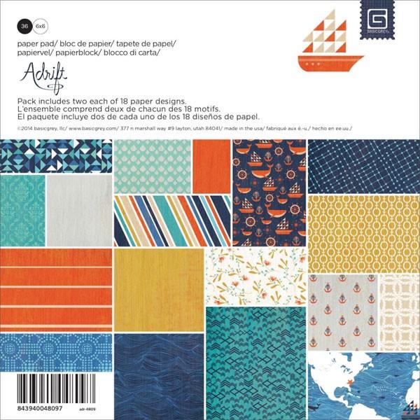 Adrift 6x6 Paper Pack