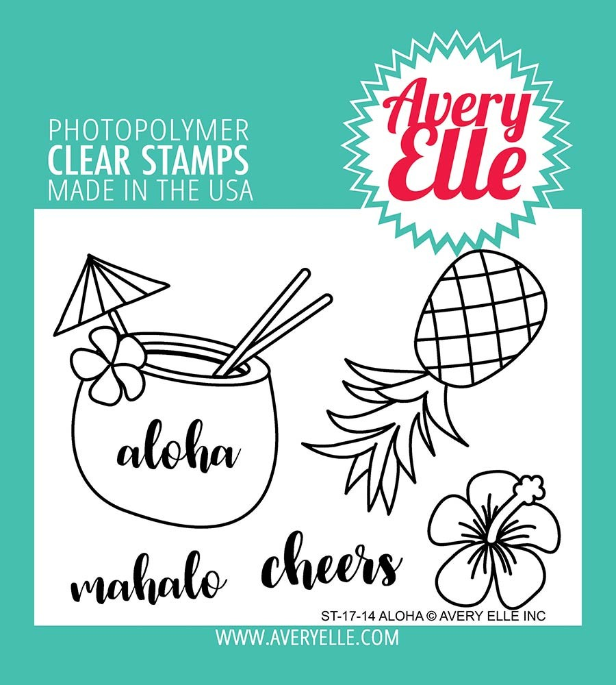 Avery Elle Aloha Clear Stamp Set