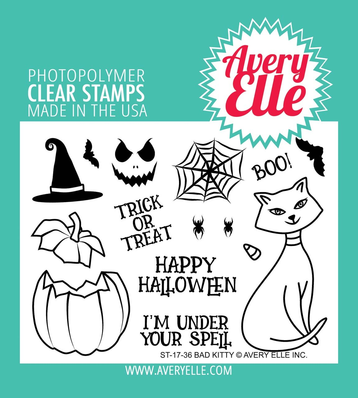 Avery Elle Bad Kitty Clear Stamp Set