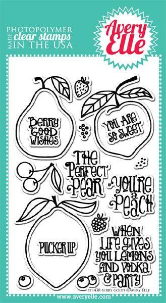 Avery Elle Berry Good Clear Stamp Set