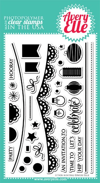 Avery Elle Bunting Clear Stamp Set