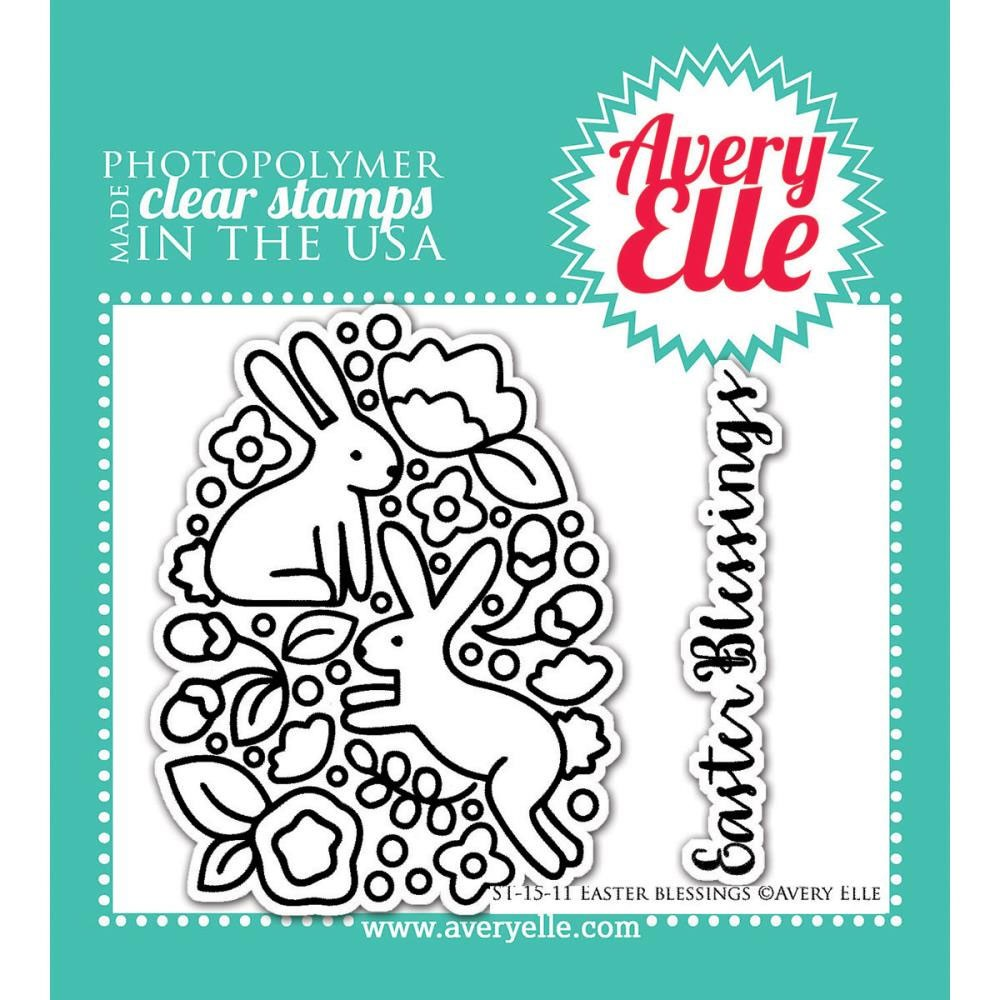 avery elle easter blessing clear stamps