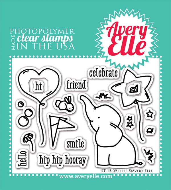 avery elle ellie clear stamps